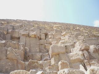 mamposteria de la piramide de giza