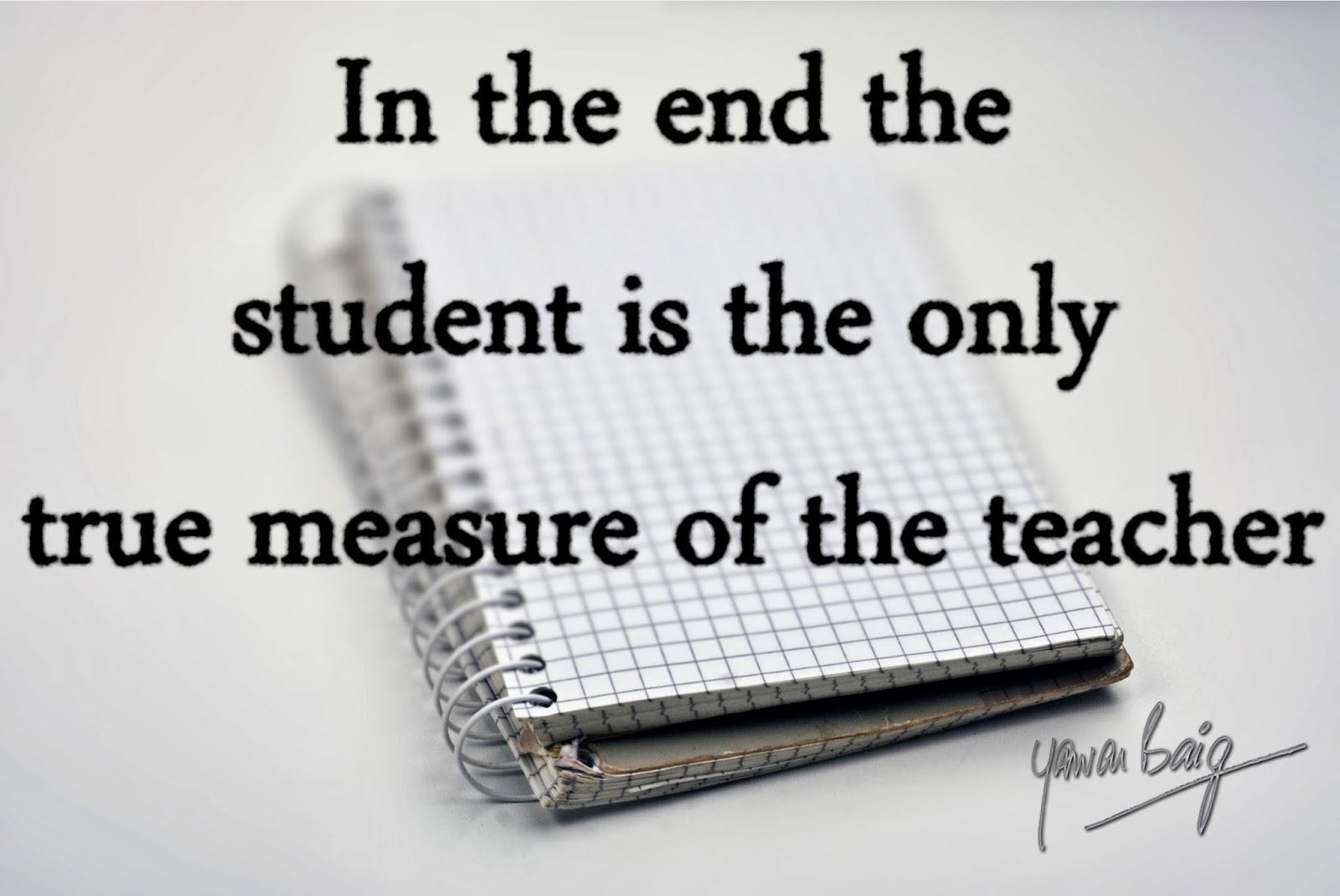 O! Teacher, stop teaching