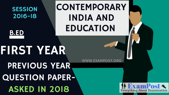previous-year-question-paper-Contemporary-India-Education-B.Ed-1st-year
