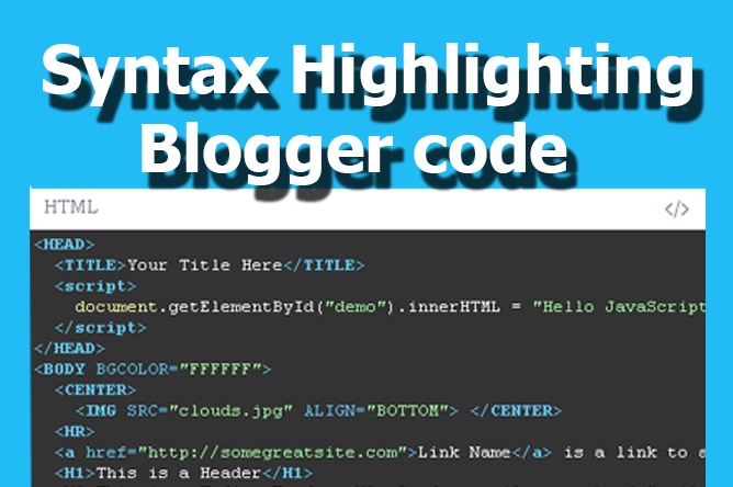 Como instalar Syntax Highlighting blogger post