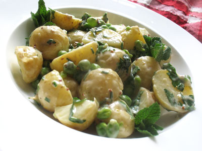 potato and green pea salad