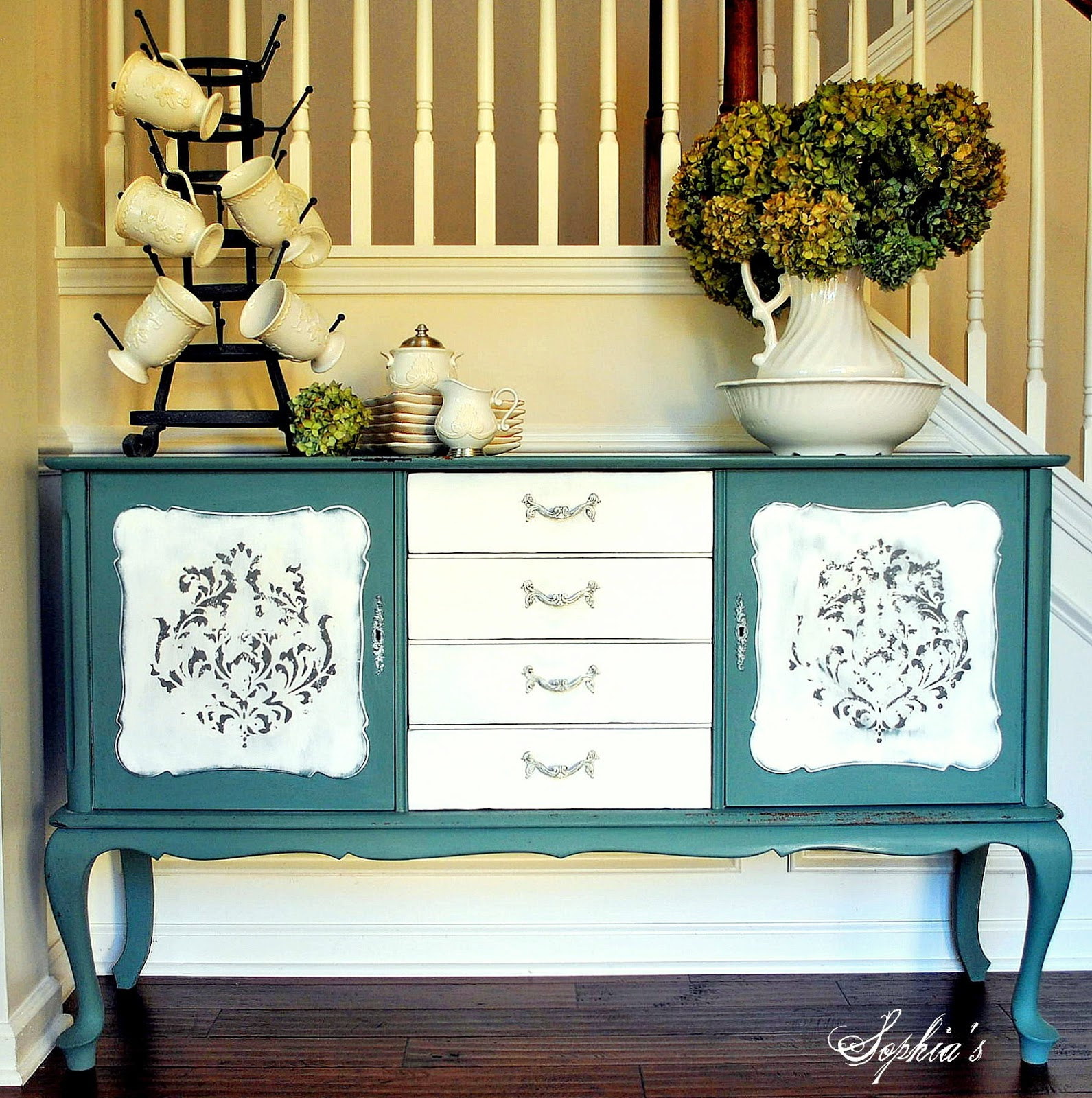 Furniture Painted with Milk Paint Kitchen Scale