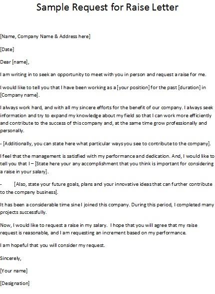 Doc.#12751650: Pay Raise Letter Template – Doc12751650 Raise ...
