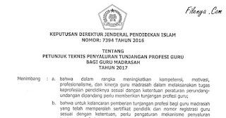 Juknis Penyaluran TPG Tunjangan Profesi Guru Madrasah 2017