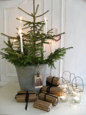Swedish Farmhouse Christmas Decorating Interior Design tree