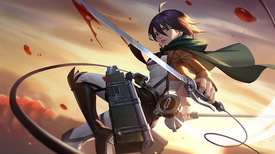 Mikasa Attack On Titan 4k Wallpaper 84