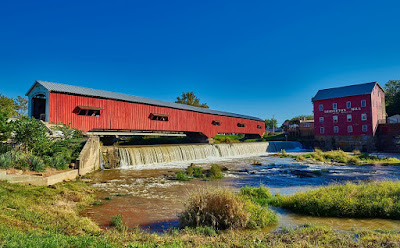 The Historic Bridgeton Covered Bridge in Indiana
