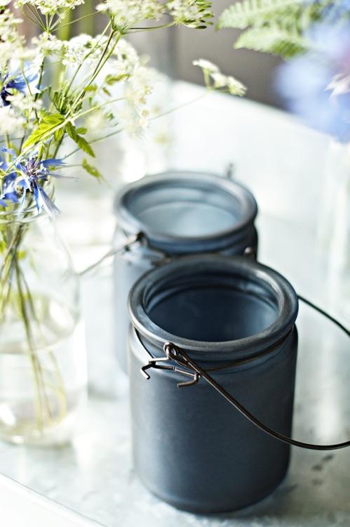 Blog + Fotografie by it's me! - Teelichtgläser und Blumenstrauss