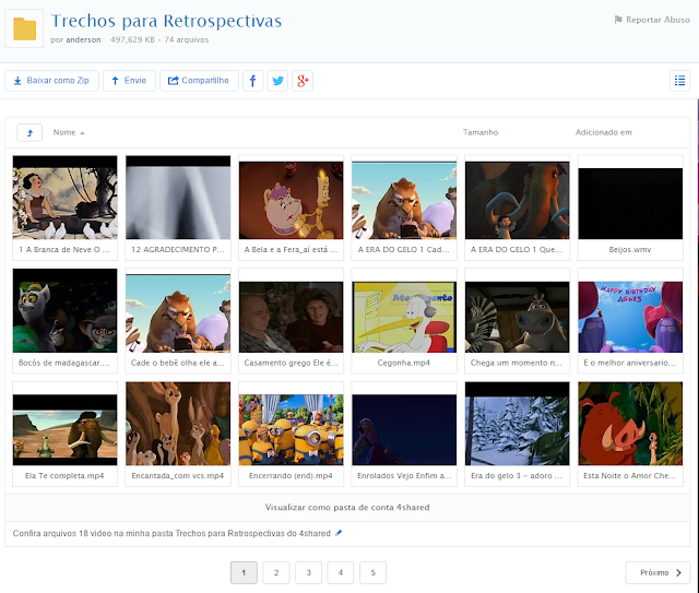 download de trechos de filmes para retrospectiva