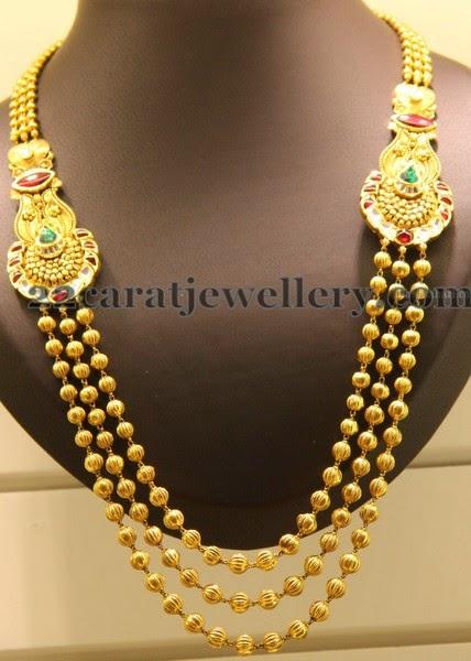 Gold Beads Regal Chandra Haar Jewellery Designs