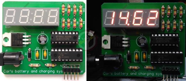 Projeto de um carregador de bateria de carro feito no EasyEDA