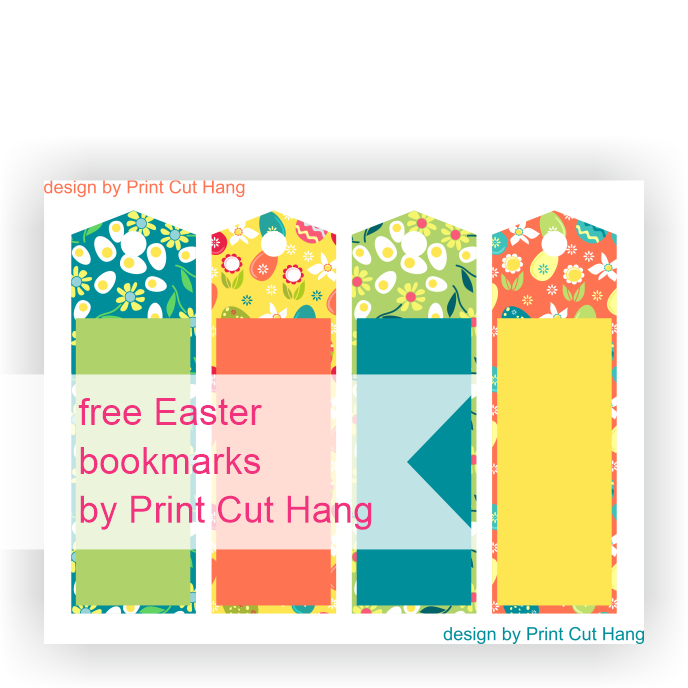 Free Easter Bookmarks