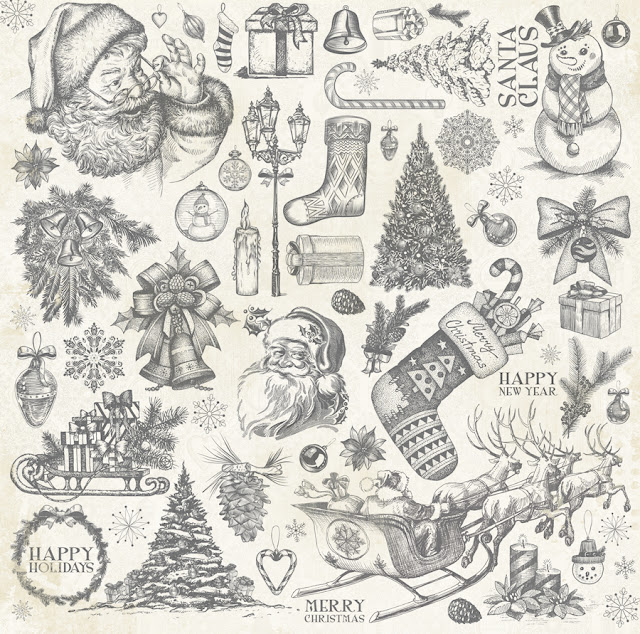 Nostalgia paper from Tis The Season by BoBunny