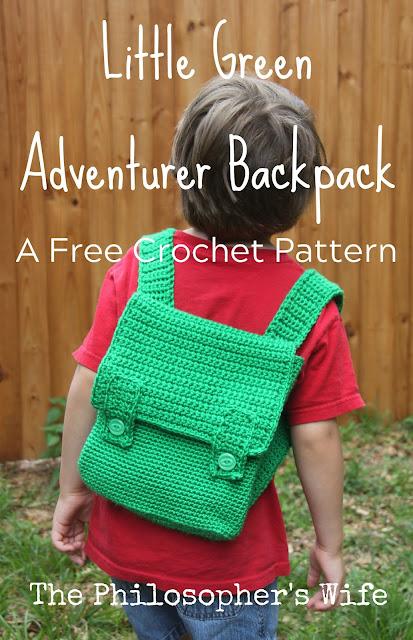 Little Green Adventurer Backpack Crochet