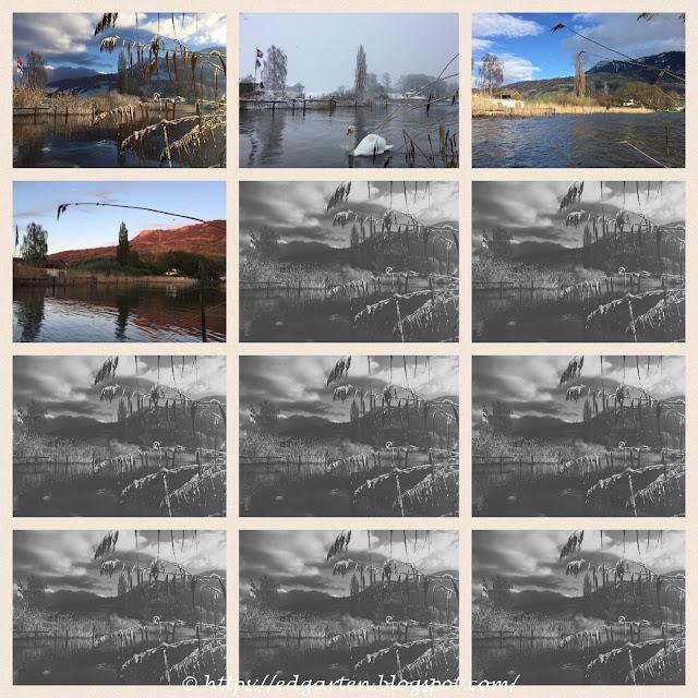 Bilder der Bucht von Januar bis April