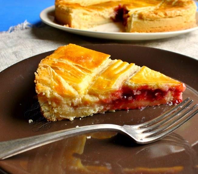 gâteau basque confiture