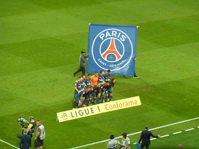 l'équipe du PSG face à Saint-Etienne
