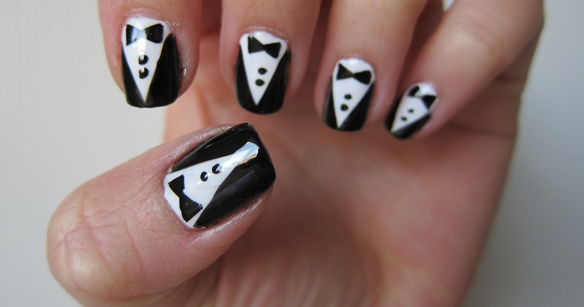 Panda loves polish: My tuxedo nails