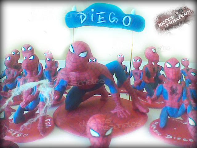 centro de torta hombre araña