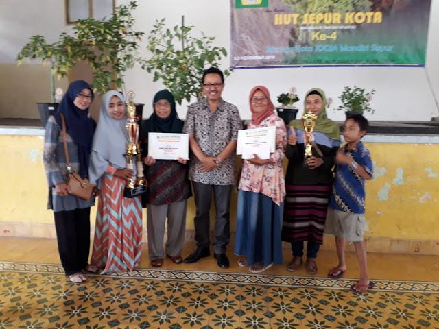 KWT Wanita Sejahtera Menjuarai Lomba Taman Mini Sayur Sepur Kota Jogja 2018