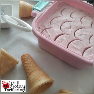 Çiçekli  Dondurma Tarifi