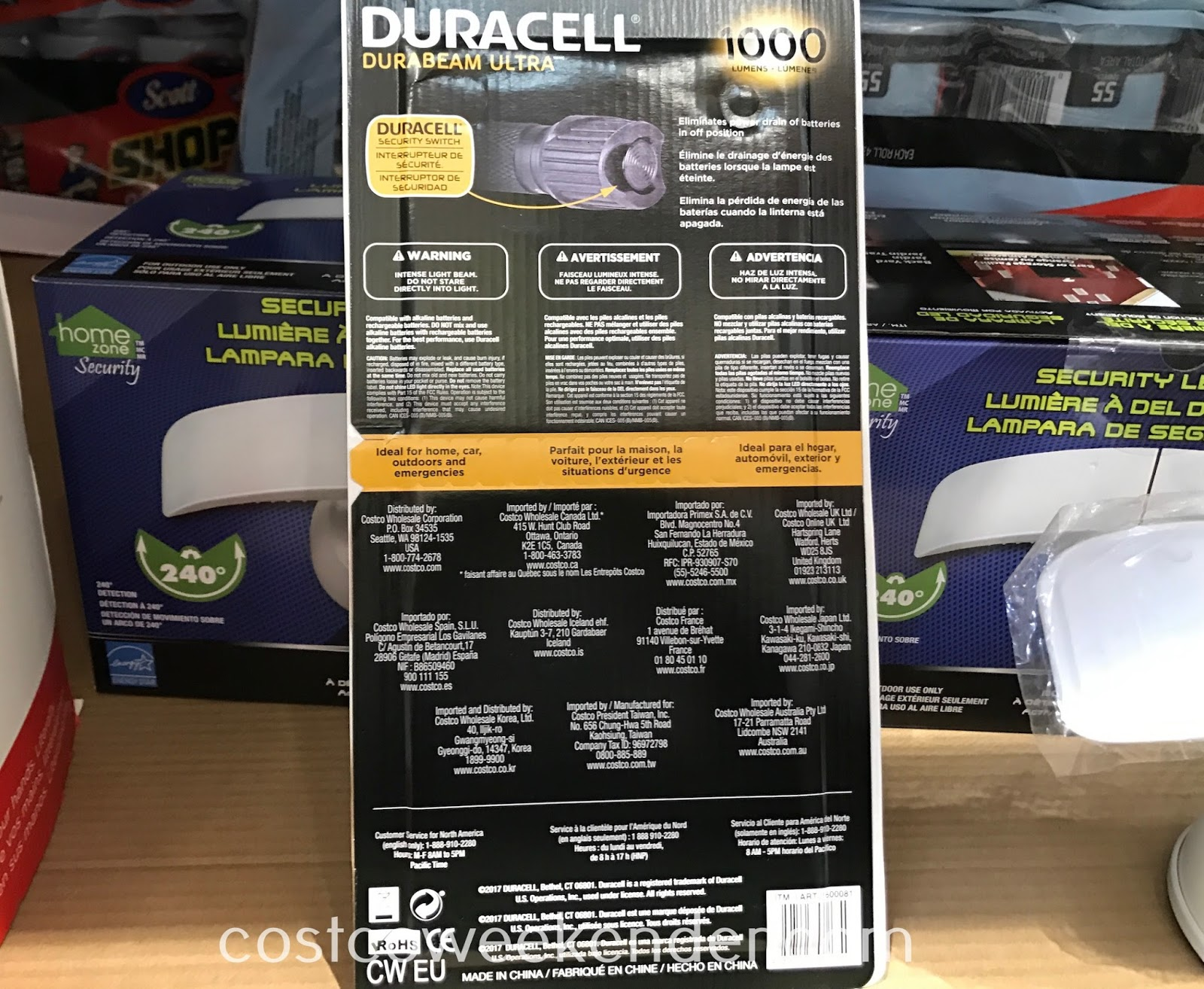 Costco 1600081 - Duracell Durabeam Ultra LED Flashlight: great for your car, home, and emergencies