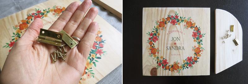 Decorar en familia: Diy madera personalizada con gel transfer8