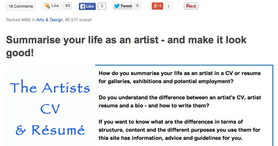Making A Mark   Blogspot  How To Write An Artist Resume