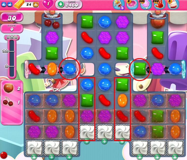 Candy Crush Saga level 2460