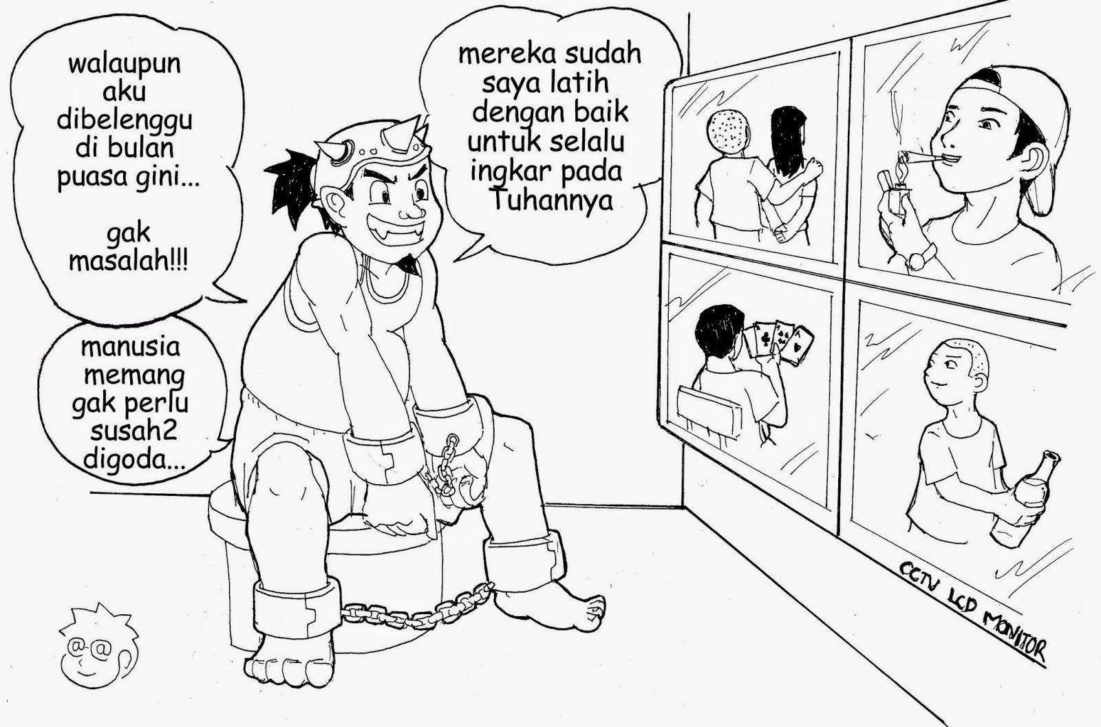 Gambar Puasa Lucu Cerita Ramadhan Terbaru FB PP Wallpaper