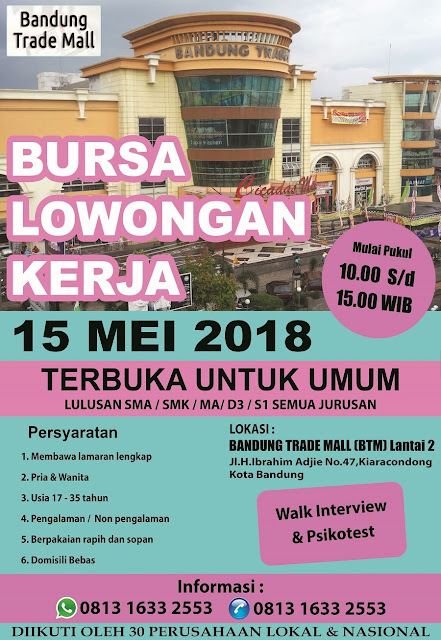 Bursa Kerja Bandung Bulan Mei