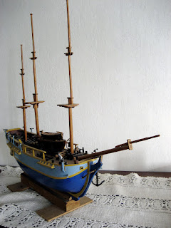 HMS Bounty model ship created by Jan Duyn