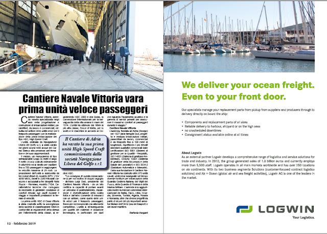 FEBBRAIO 2019 PAG. 12 - Cantiere Navale Vittoria vara prima unità veloce passeggeri