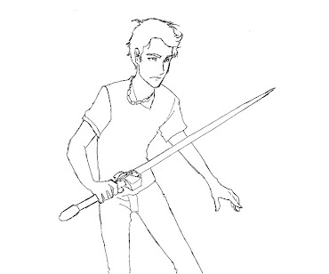 #7 Percy Jackson Coloring Page
