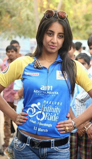 Sanjana Stills in Denim Jeans at Infinity Ride 2016    ~ Bollywood and South Indian Cinema Actress Exclusive Picture Galleries