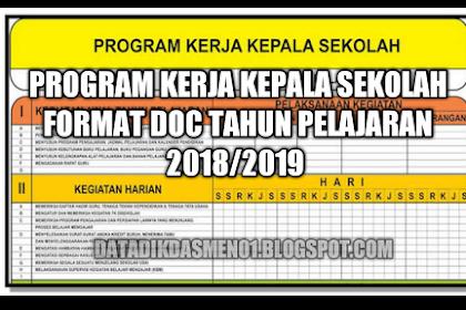 Program Kerja Kepala Sekolah Format Doc Tahun Pelajaran 2018/2019