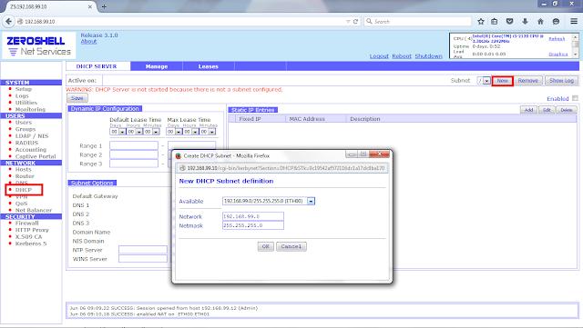Zeroshell - installation on HDD   VMWare from scratch, Multi ..