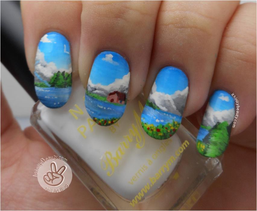 Mountain Scenery & Cozy Cabin Nail Art | IthinityBeauty.com Nail Art ...