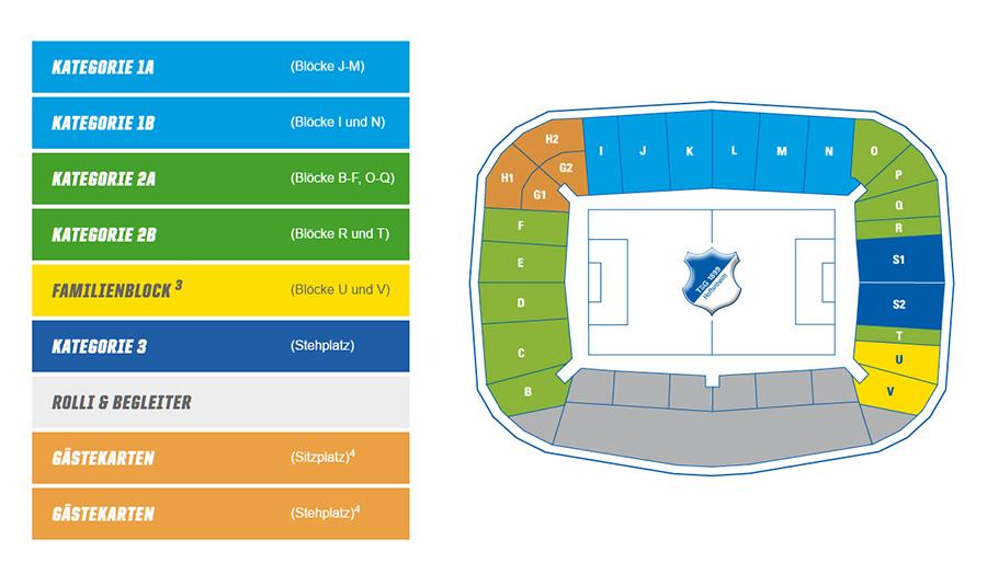 rhein necker arena hoffenheim mappa stadio