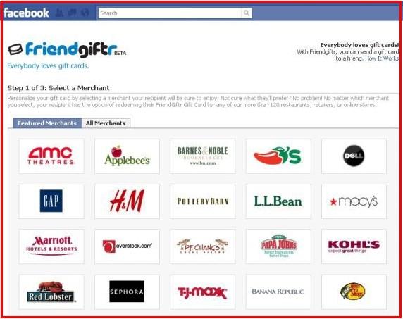facebook gift list app