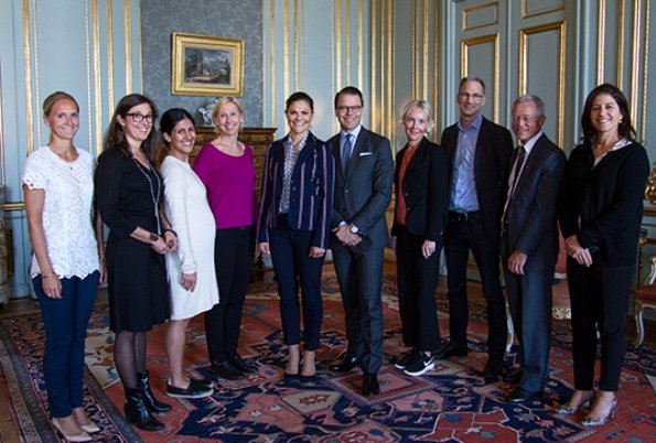 The Swedish Crown Princess Couple's Foundation. Elin Annwall, Lena Hök, Golnaz Hashemzadeh Bonde, Pernilla Bard, Lena Green, Johan Oljeqvist, Nils Lundin and Dilsa Demirbag-Sten