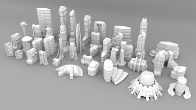 3d Printable Sci-fi Buildings for Tabletop Wargames Kickstarter from Wulfshéade Miniatures