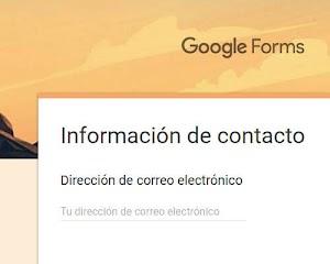 Utilizar formularios de Google en Blogger (RGPD)