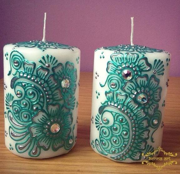 El Mejor Tutorial Para Aprender Como Decorar Velas Con Pintura - Como-decorar-una-vela