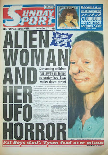 Front page of the British tabloid newspaper The Sport from 27 Nov 1988