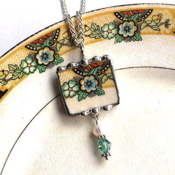 Laura Beth Love's broken china jewelry Dishfunctional Designs