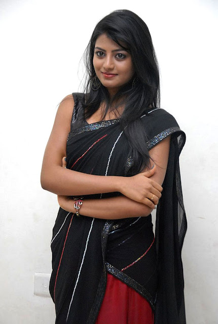 Anandhi Photos in Black Half Saree