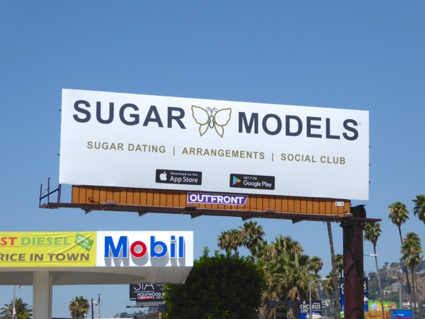 Sugar Models Dating Arrangements Social Club billboard