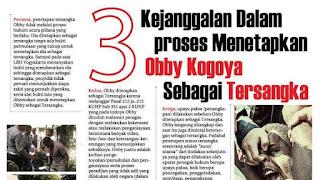 Bebaskan Kawan Obby Kogoya, Lawan Kriminalisasi !