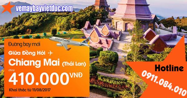 khuyến mãi ưu đãi đường bay Đồng Hới-Chiang mai từ Jetstar